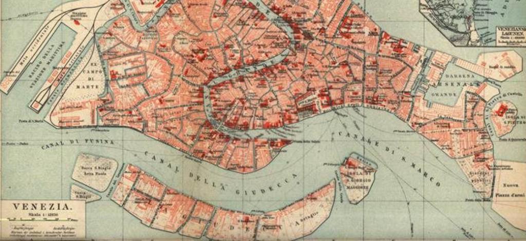 Plano de Venecia en el Renacimiento