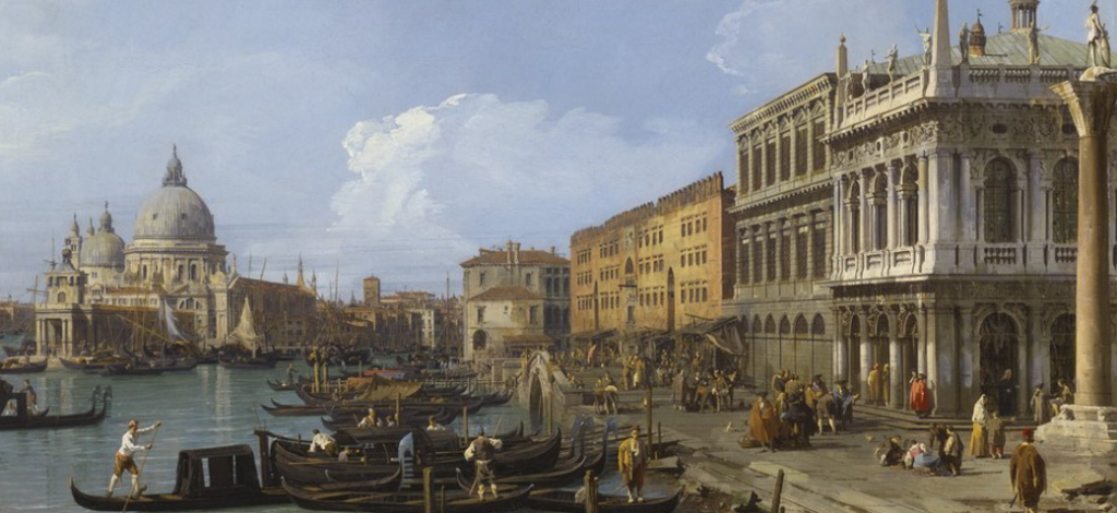 The Molo Looking West (Giovanni Canaletto, 1730)