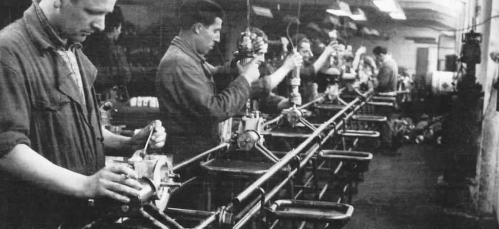 La mecanización del trabajo luego de la Revolución Industrial (fotografía)