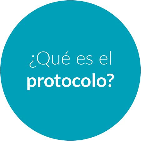 Botón que deriva a la sección ¿Qué es el protocolo?